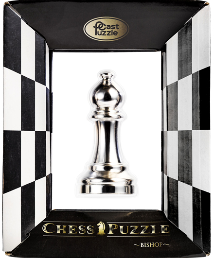 Cast Chess/Ajedrez Alfil - Plateado
