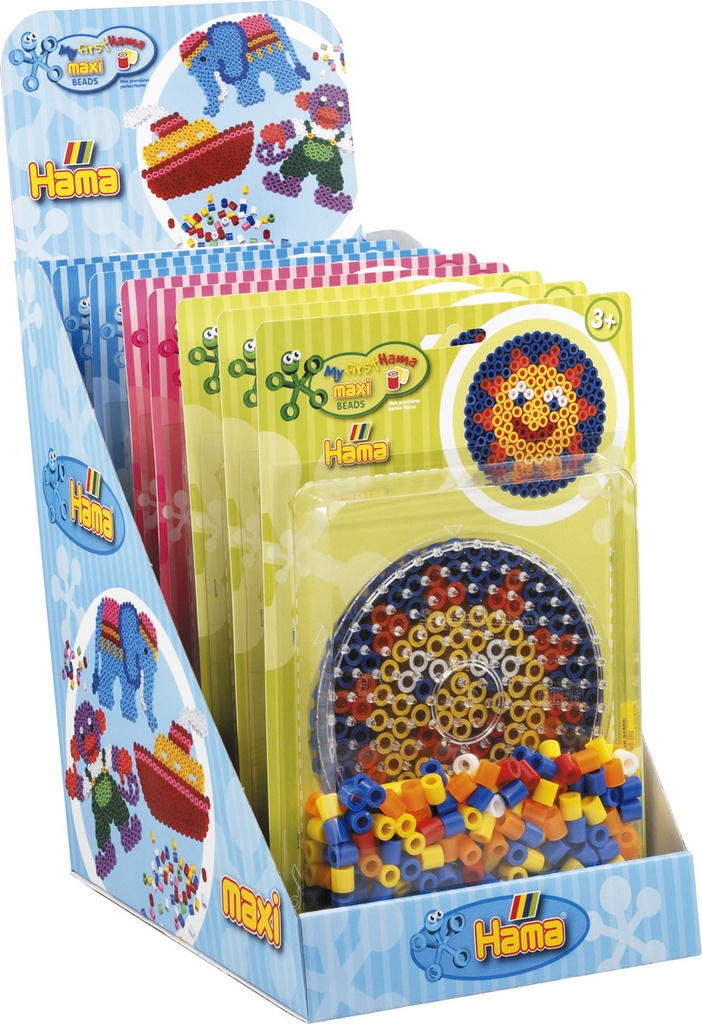 Expositor surtido -  Blister Maxi 250 beads y placa/pegboard